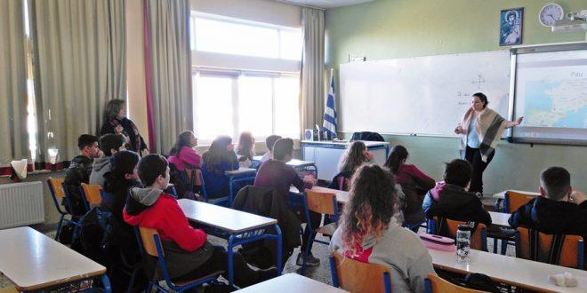 Επίσκεψη της Manon Derouen (Γαλλίδα εκπαιδευτικός) στο σχολείο μας
